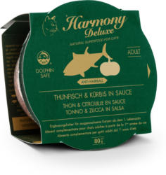 Harmony Cat Deluxe Cup Adult Thunfisch & Kürbis in Sauce Anti-Hairball 24x80g