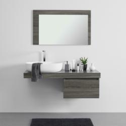 Waschtischkombi 'Domenico' inkl. Waschbecken, grau