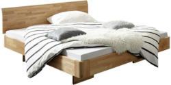 Bett 200/200 cm in Buchefarben