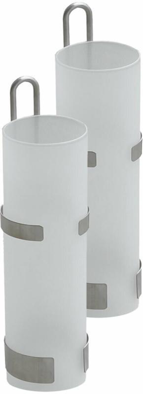 Wasserverdunster, Ø 5x20,5 cm, weiß/silber, 2 Stück