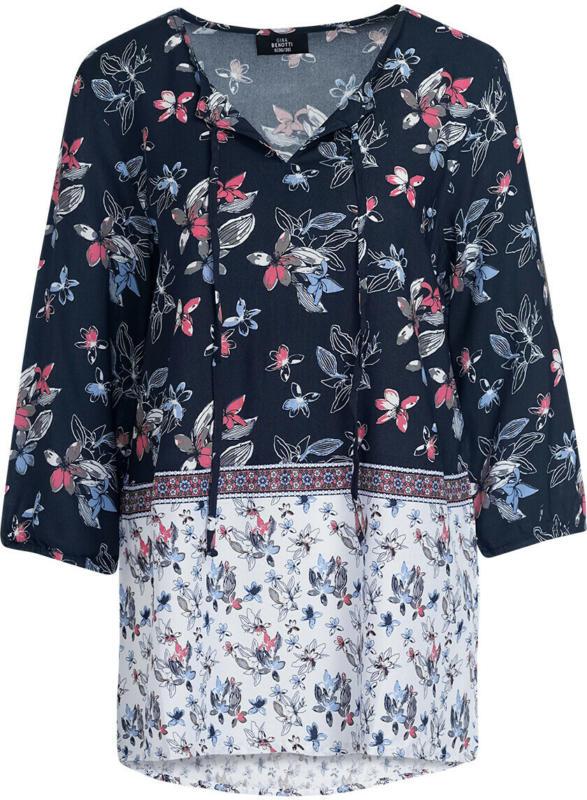 Damen Bluse mit floralem Allover-Motiv (Nur online)