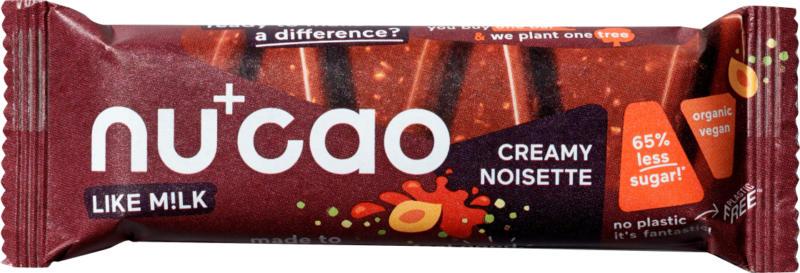nucao Schokoladen-Riegel, Creamy Noisette