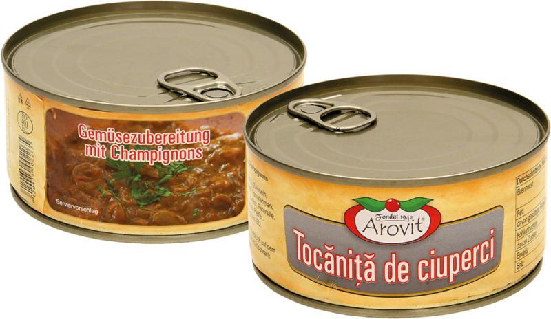Gemüsezubereitung mit Champignons