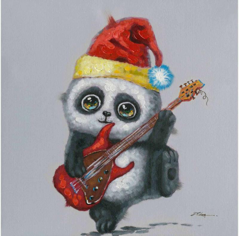 Bild E-Gitarre Spielender Panda