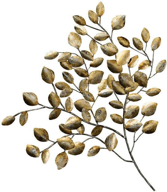 Wandschmuck Goldener Zweig