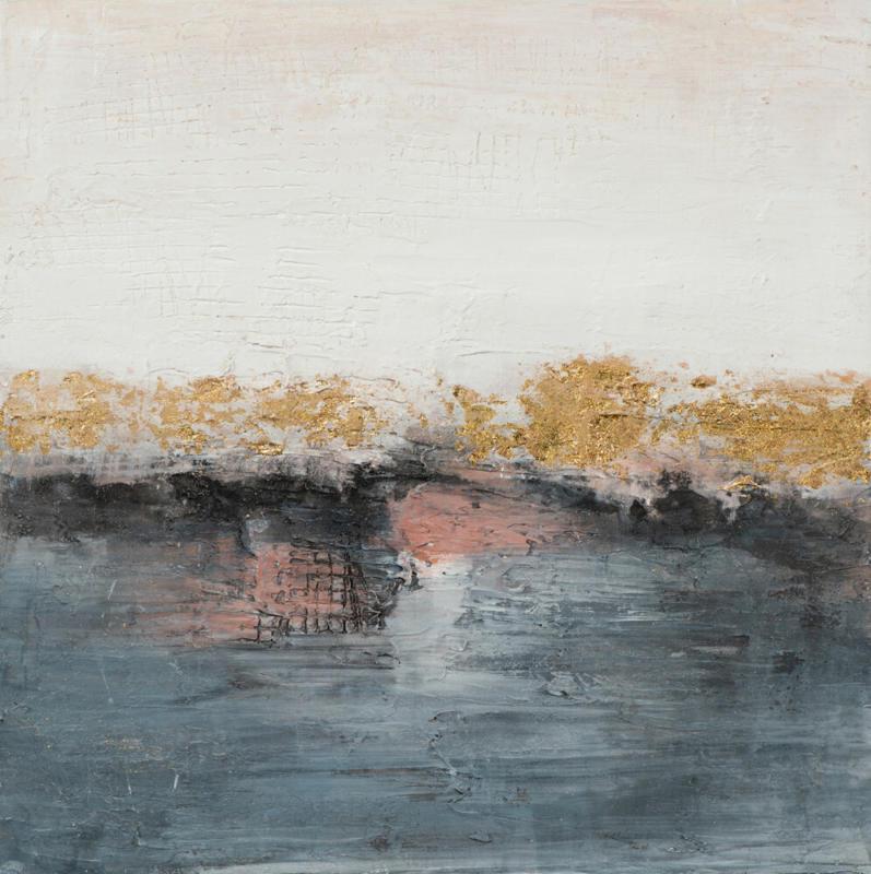 Bild Abstrakt in Nude und Blau
