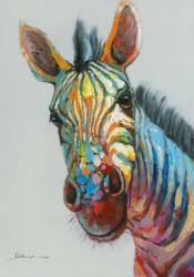 Bild Farbenfrohes Zebra