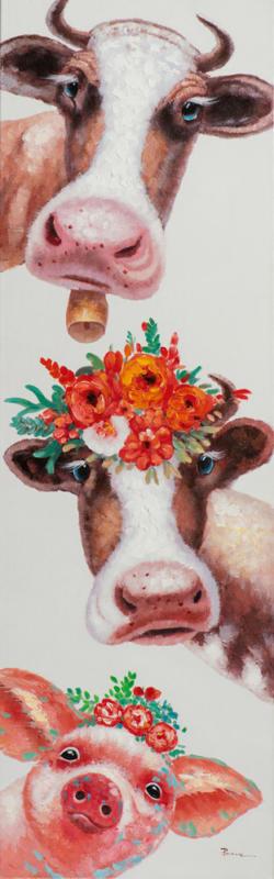 Bild Lustige Kühe mit Schweinchen