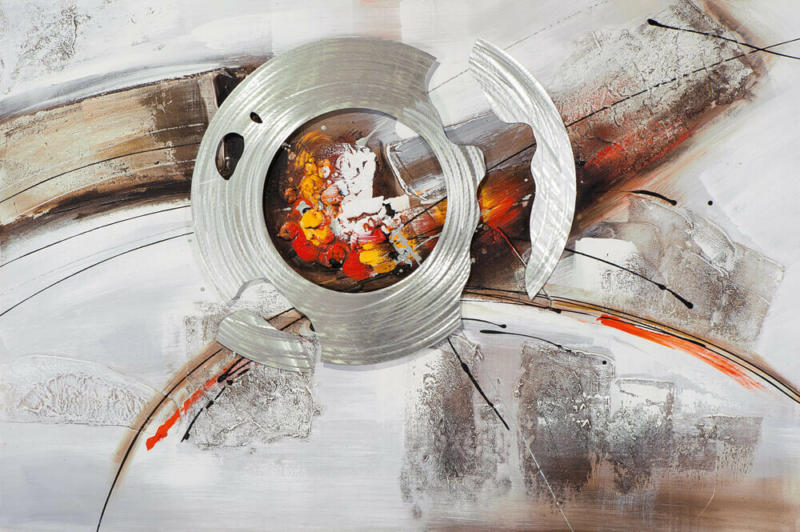 Bild Abstrakte Sonne Aus Metall