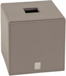 Papiertuchbox Lederoptik Stein Quadratisch