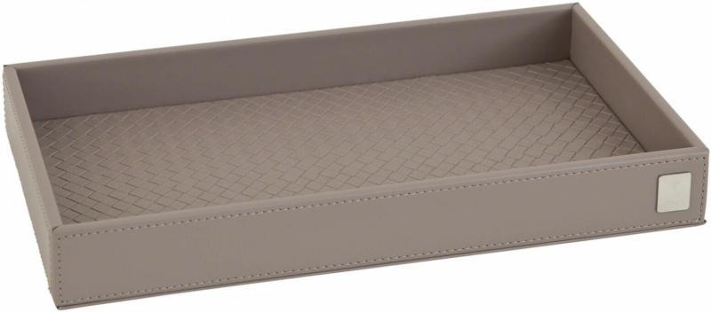 Tablett Lederoptik 28x15 cm