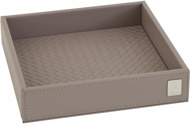 Tablett Lederoptik 17x17 cm