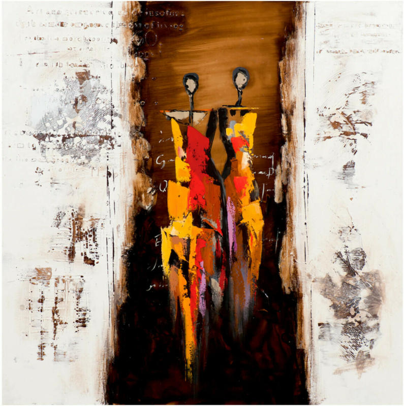 Bild Familie Abstrakt 75 x 75 cm