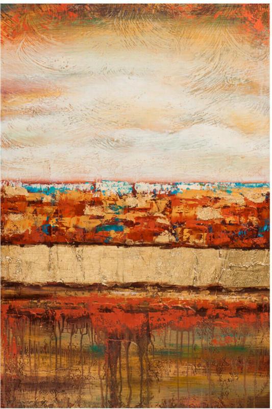 Bild Abstract Sundown 60 x 90 cm