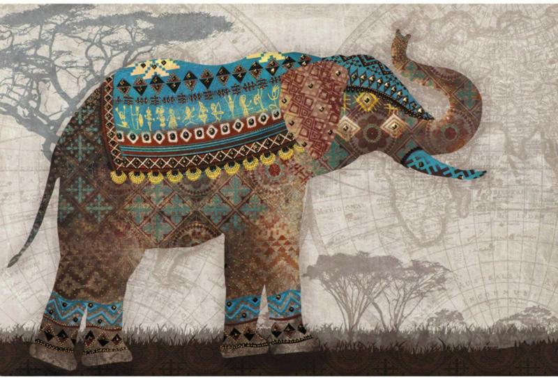 Bild Gemusterter Elefant