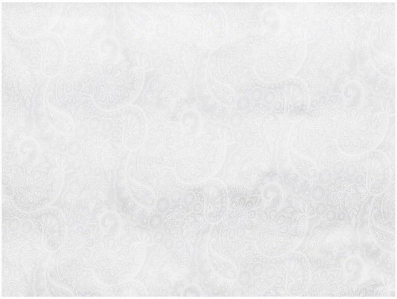 Kissenbezug Paisley Blanc