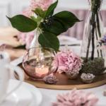 DEPOT Vase Glas ca. D10xH9cm, rosa