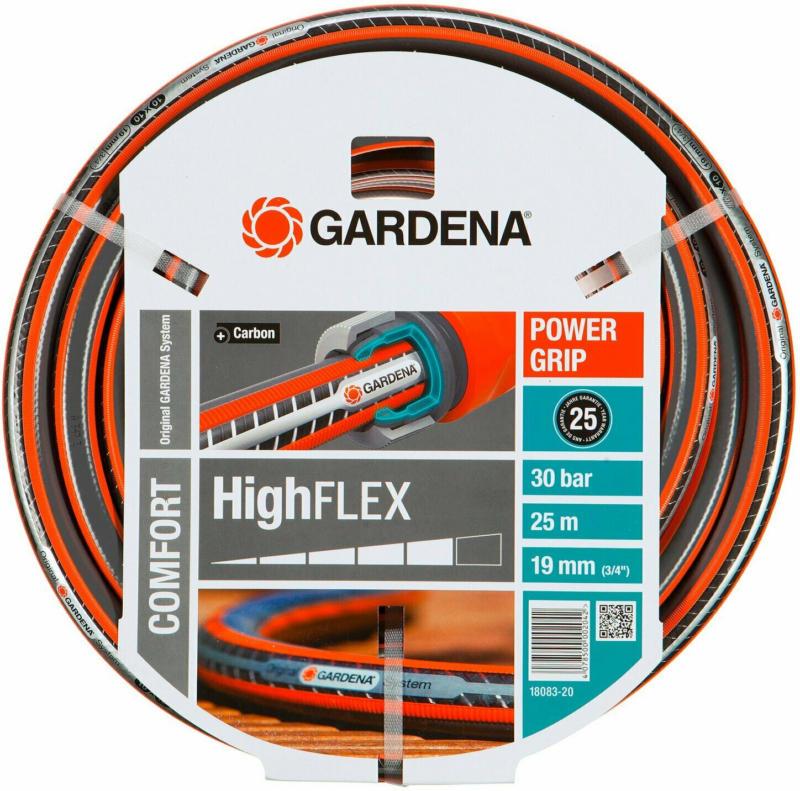 """Gardena Gartenschlauch Comfort HighFlex 19 mm (3/4"""") mit PowerGrip 30 bar 25 m"""