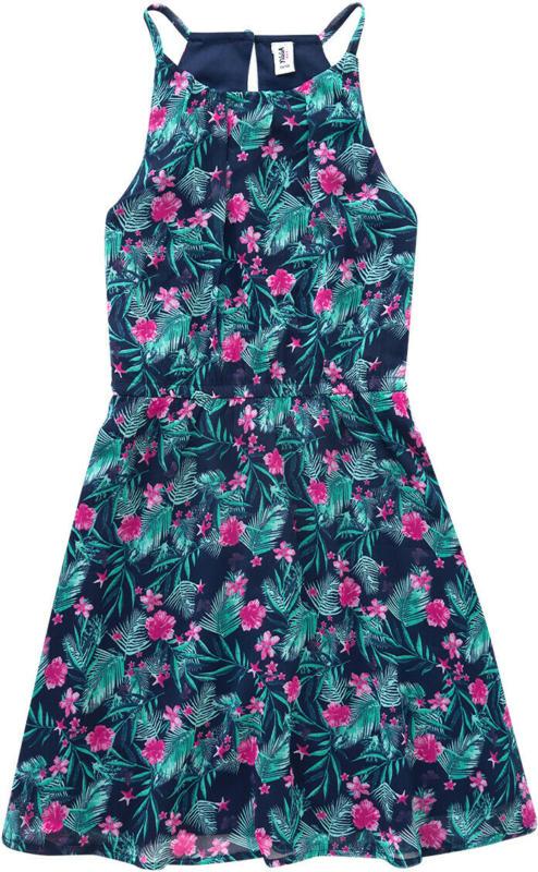 Mädchen Kleid mit tropischem Allover-Print (Nur online)