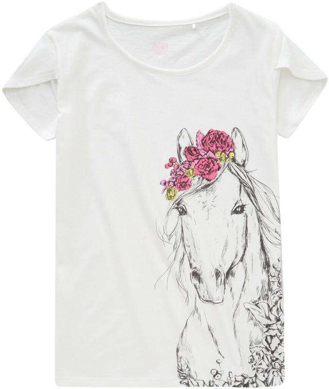 Mädchen T-Shirt mit Pferde-Print (Nur online)