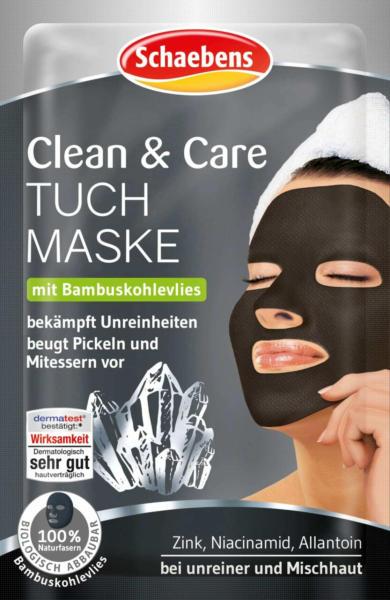 Schaebens Tuchmaske Clean & Care