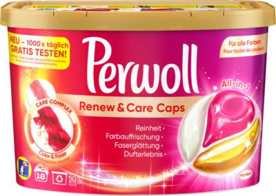 Perwoll Feinwaschmittel Caps Renew&Care Color & Faser