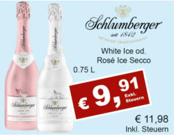 Schlumberger White Ice od. Rosé Ice Secco