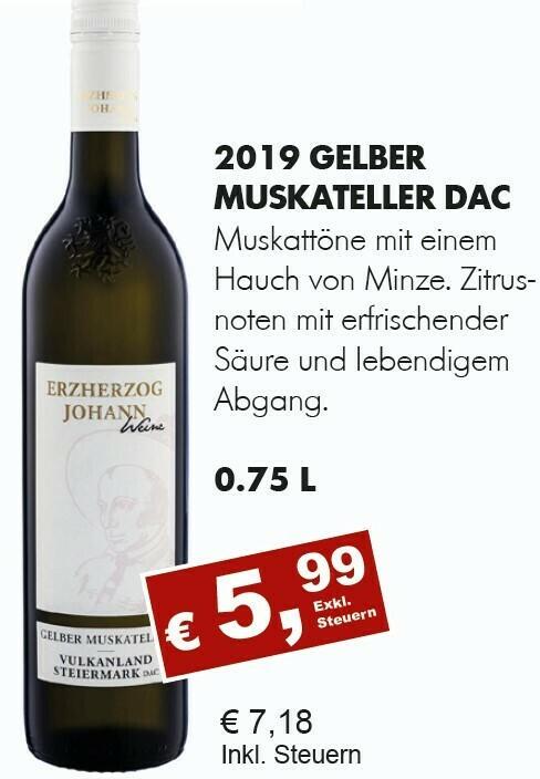 Gelber Muskateller DAC 2019