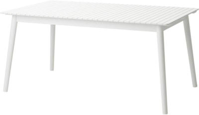 IKEA HATTHOLMEN Ausziehtisch/außen - Eukalyptus/weiß