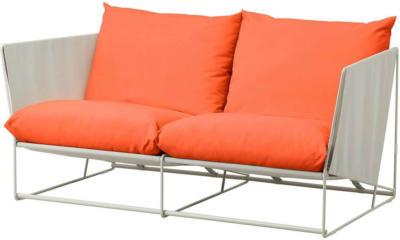 IKEA HAVSTEN 2er-Sofa, drinnen/draußen - orange/beige