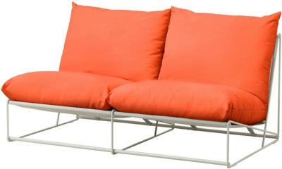 IKEA HAVSTEN 2er-Sofa, drinnen/draußen - ohne Armlehnen orange/beige