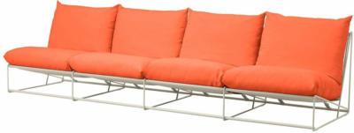 IKEA HAVSTEN 4er-Sofa, drinnen/draußen - ohne Armlehnen orange/beige