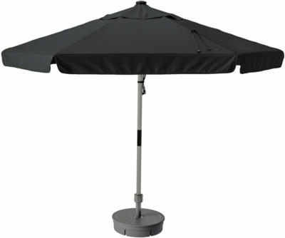 IKEA BETSÖ / VÅRHOLMEN Sonnenschirm mit Ständer - Holzeffekt grau dunkelgrau/Grytö dunkelgrau