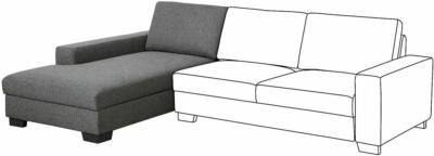 IKEA SÖRVALLEN Récamierenelement - links/Lejde dunkelgrau