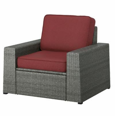 IKEA SOLLERÖN Sessel/außen - dunkelgrau/Järpön/Duvholmen braunrot