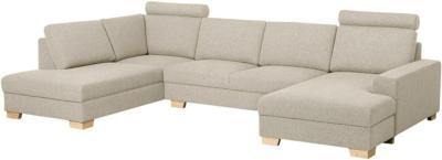 IKEA SÖRVALLEN Ecksofa 4-sitzig - mit Récamiere rechts/Lejde dunkelbeige