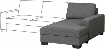 IKEA SÖRVALLEN Récamierenelement - rechts/Lejde dunkelgrau