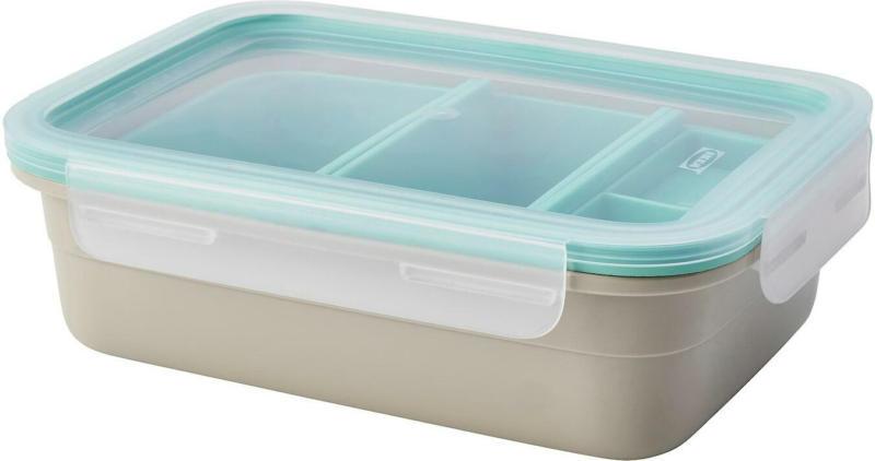 IKEA 365+ Lunchbox mit Einsätzen - rechteckig/beige