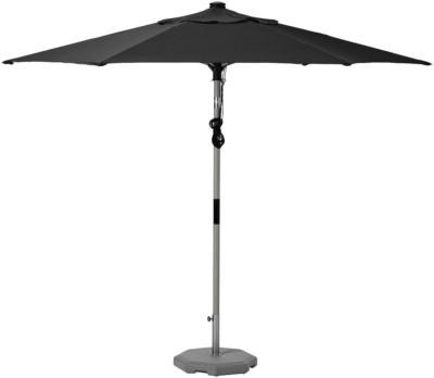 IKEA BETSÖ / LINDÖJA Sonnenschirm mit Ständer - Holzeffekt grau schwarz/Huvön