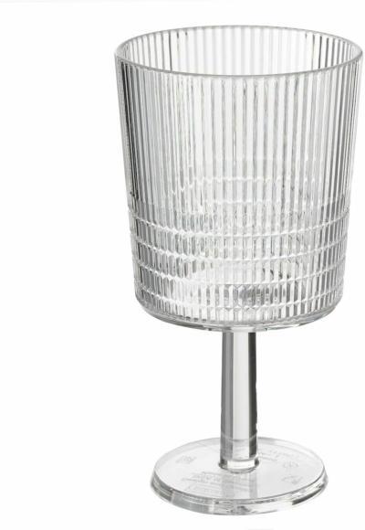 IKEA KALLSINNIG Weinglas - transparent Kunststoff