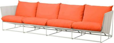 IKEA HAVSTEN 4er-Sofa, drinnen/draußen - orange/beige
