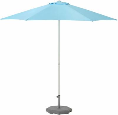 IKEA HÖGÖN Sonnenschirm mit Ständer - hellblau/Huvön dunkelgrau