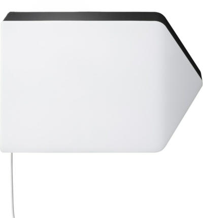IKEA BÄGAREN Wandleuchte, LED - Pfeil weiß/schwarz