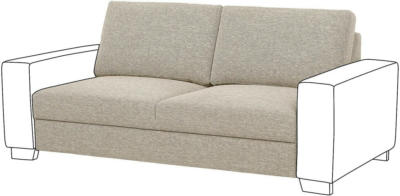 IKEA SÖRVALLEN Sitzelement 2 - Lejde dunkelbeige
