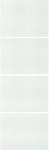 IKEA NYKIRKE 4 Paneele für Schiebetürrahmen - Frostglas kariert
