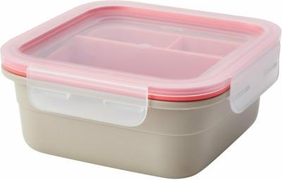 IKEA 365+ Lunchbox mit Einsätzen - quadratisch/beige hellrot