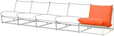 IKEA HAVSTEN Anbauelement drinnen/draußen - orange/beige