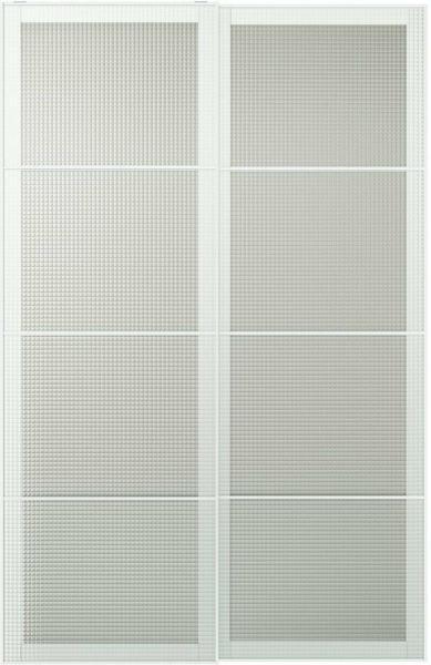 IKEA NYKIRKE Schiebetürpaar - Frostglas kariert
