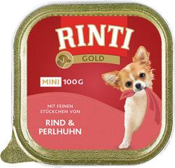 Rinti Gold Mini mit Rind & Perlhuhn 16x100g