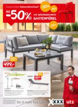 XXXLutz Flugblatt - Gartenmöbel Saisonabverkauf